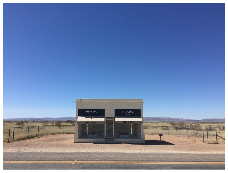 Prada Marfa outside of Marfa, Texas. Travel photography by Sonja Salzburg of Sonja K Photography.