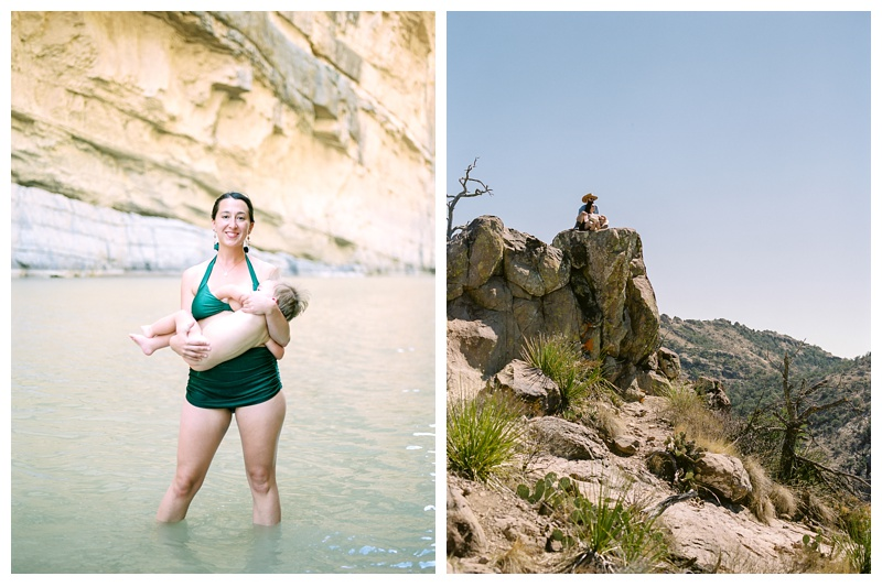 Portraits in Santa Elena Canyon and on the Lost Mine Trail in Big Bend National Park. Film portrait photography by Sonja Salzburg of Sonja K Photography.