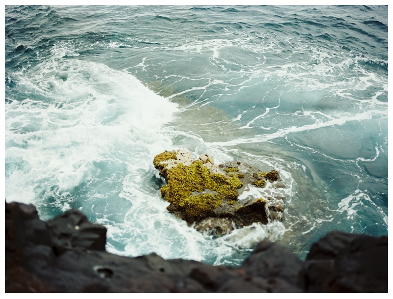 The view of the ocean on the Big Island of Hawaii. Film travel photography by Sonja Salzburg of Sonja K Photography.