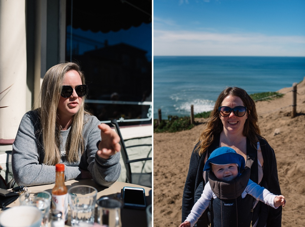 Breakfast in San Francisco and hiking at Fort Funston.  Travel photography by Sonja and Max Salzburg of Sonja K Photography.