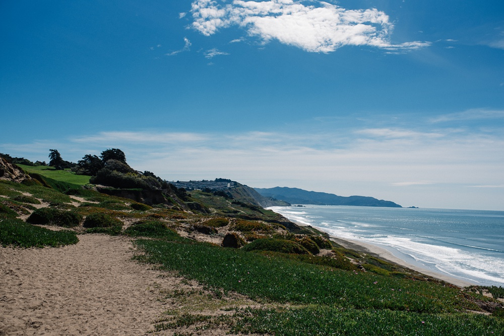 The beach at Fort Funston outside of San Francisco, California. Travel landscape photography by Sonja Salzburg of Sonja K Photography.