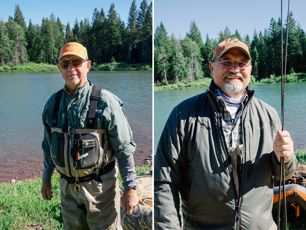 Two of the original FADE members at Henderson Springs Ranch outside of Big Bend, California. Fly fishing travel destination portrait photography by Max Salzburg of Sonja K Photography.