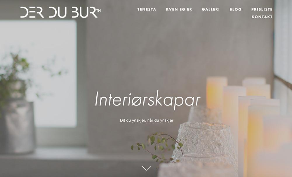 Ny nettside -  www.derdubur.com    Design - Video - Sosiale Medier - Rådgivning   Kunde: Der Du Bur AS
