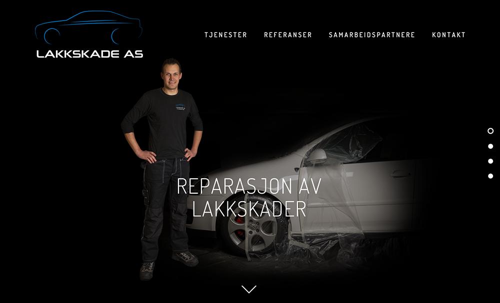 Ny nettside -  www.lakkskade.as    Design -Foto - Sosiale Medier - Rådgivning   Kunde: Lakkskade AS
