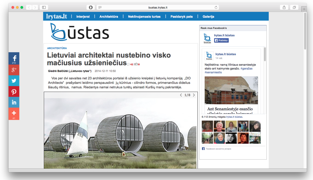 DO architects_Rolling Homes featured on Lietuvos Rytas.png