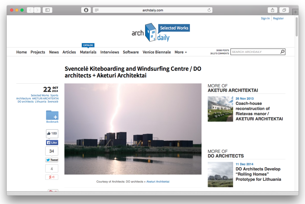 DO architects_News_ArchDaily Screenshot.png