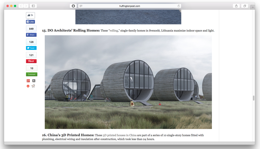 DO architects_News_Huffington Post ranks Rolling Homes Top 20 in 2014_02.png