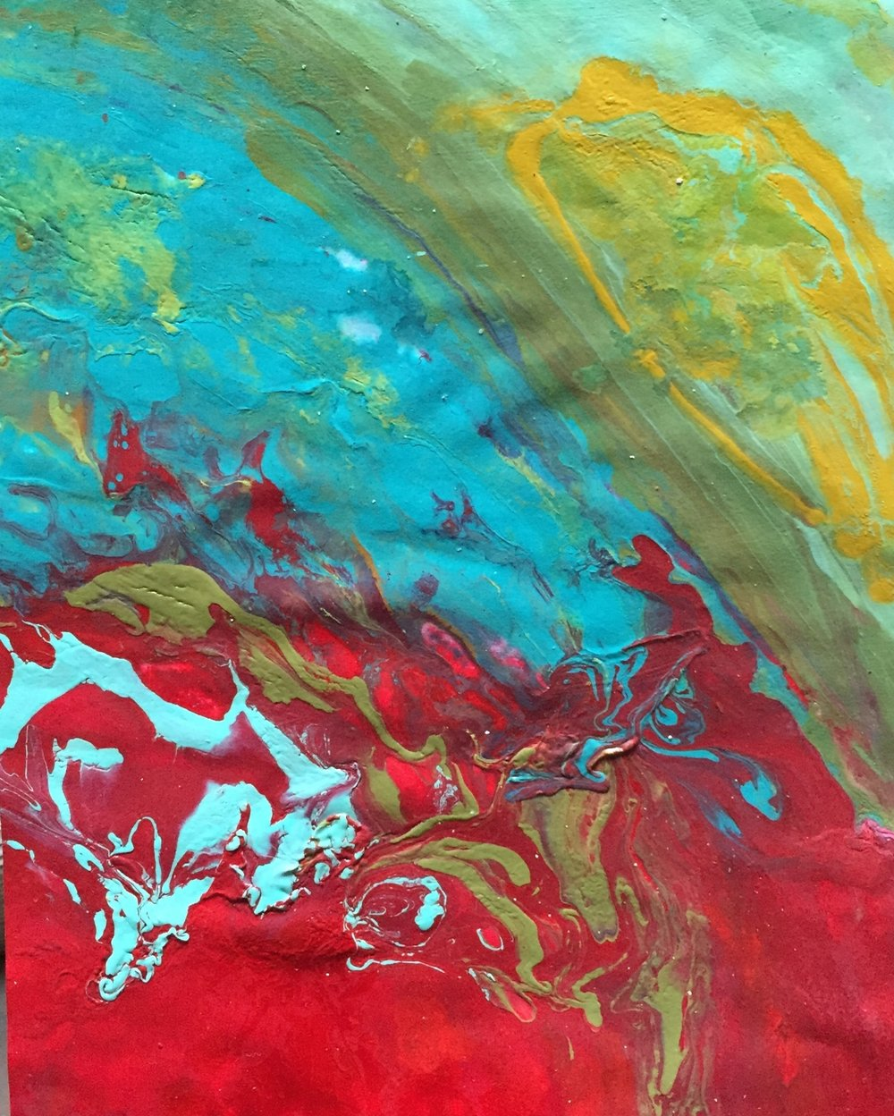 "Red Rain 24"" x 20"" on paper sold"