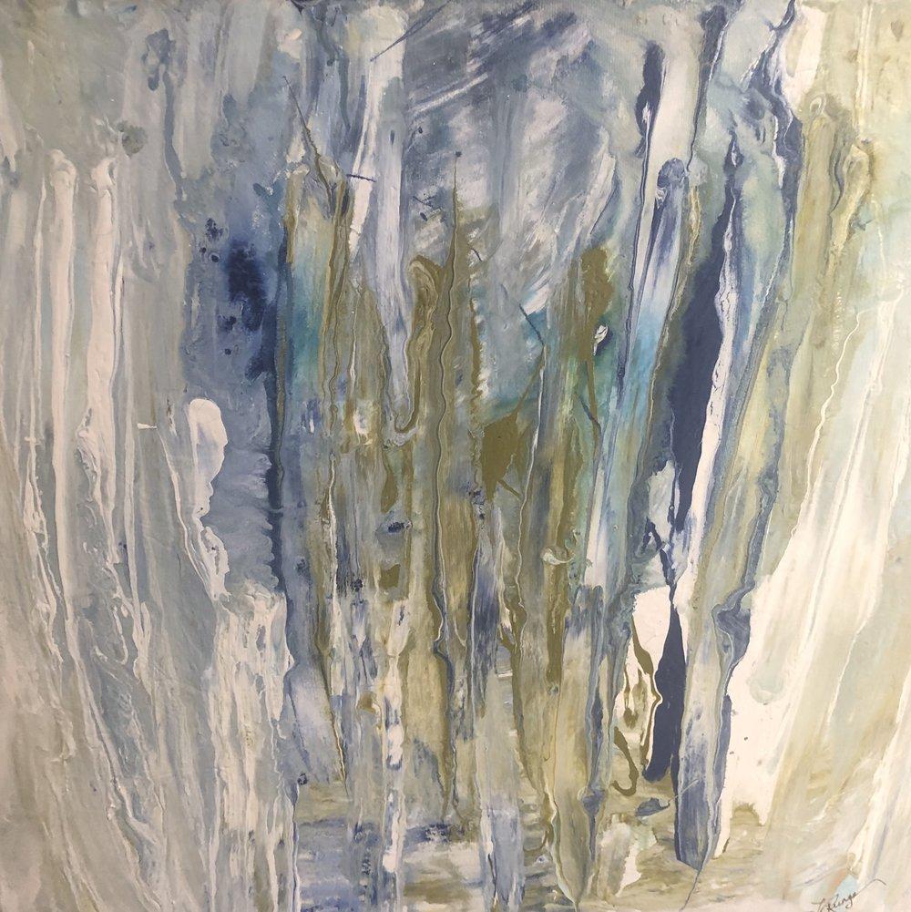 "Summer Shower 20"" x 20"" x 1.5"" acrylic on canvas $340 Available"