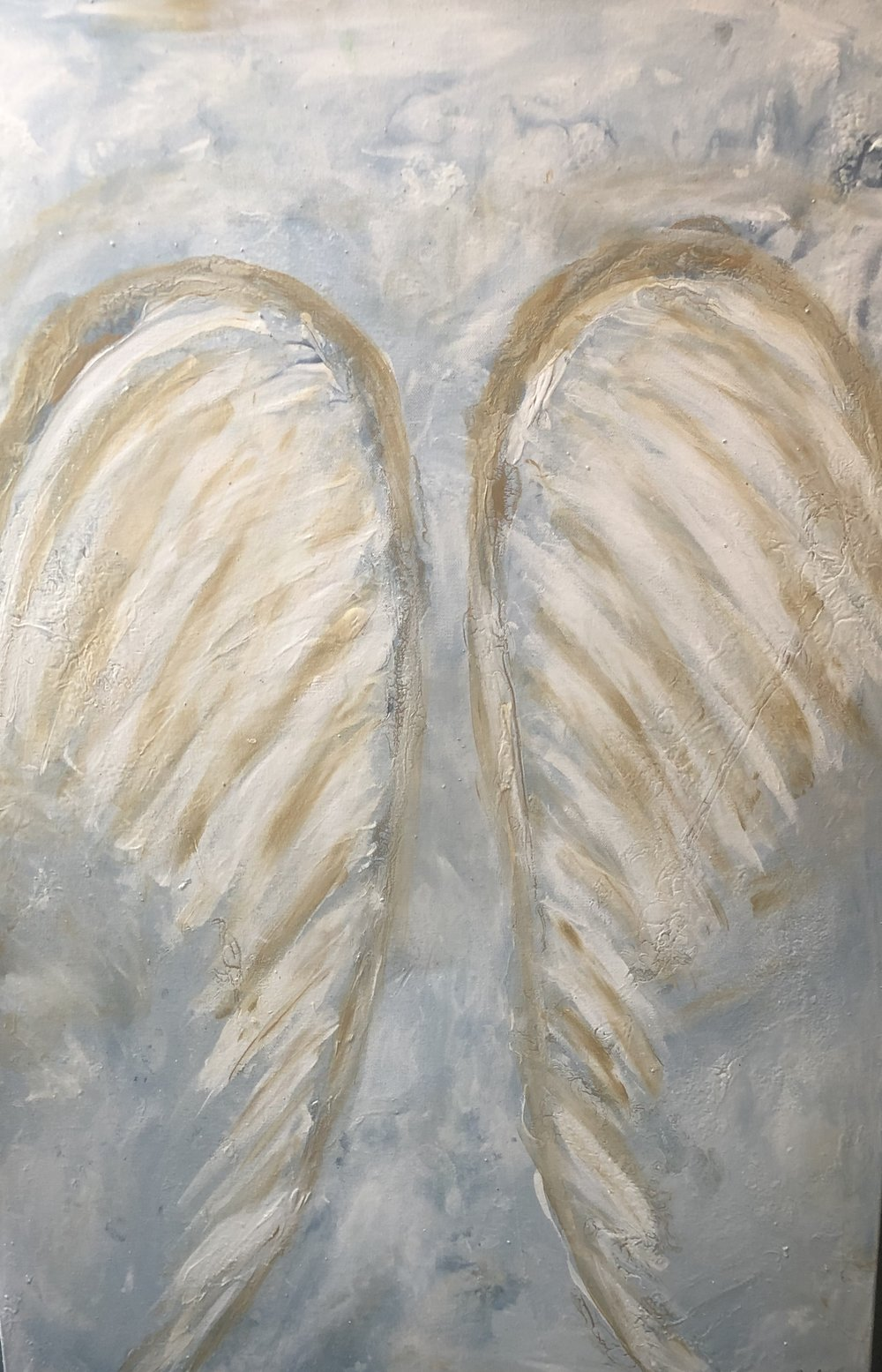 """Heavenly Soaring 36"""" x 24"""" x 1.5"""" acrylic on canvas $725 Available"""