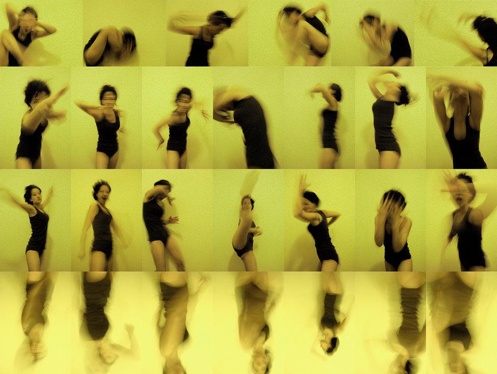 "Struggle: Self-portrait ii -Photographic Snapshots & Adobe Photoshop, 20""x 16"" (2012)"
