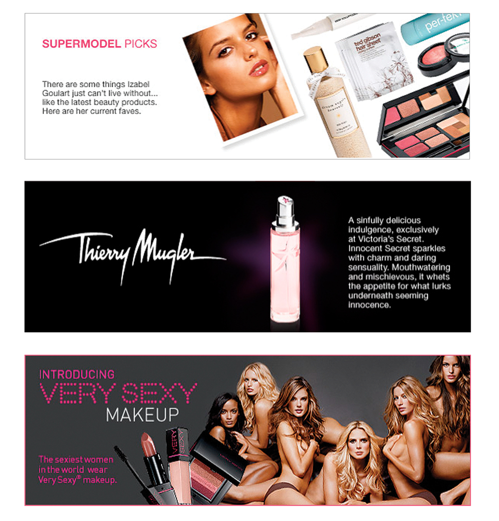 Victoria's Secret Website Banners