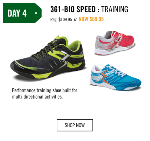 Save $40.00 on any 361-Bio Speed purchase.