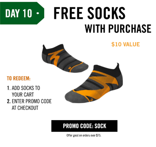 FREE SOCKS WITH PURCHASE