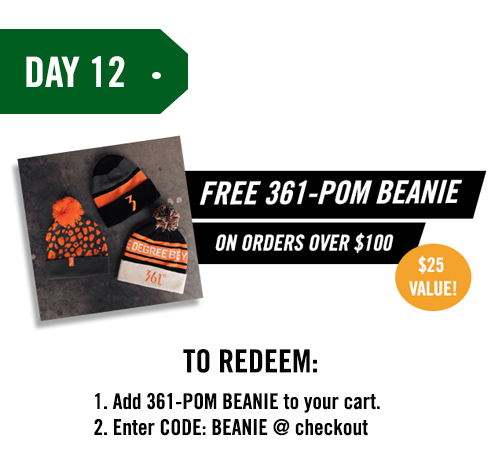 Free 361-POM BEANIE on orders over $100