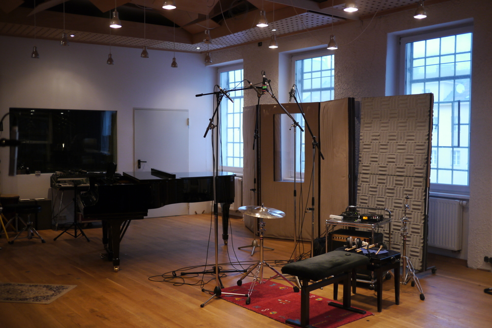 The recording set-up in   4TUNE   Studios