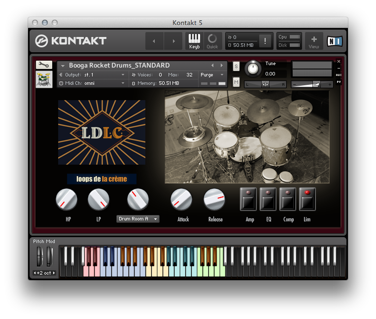 Booga Rocket Drums_Kontakt GUI