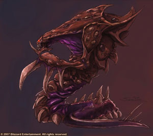 Hydralisk Concept for Starcraft 2 by Samwise Didier. Starcraft and Hydralisk are owned by Blizzard.