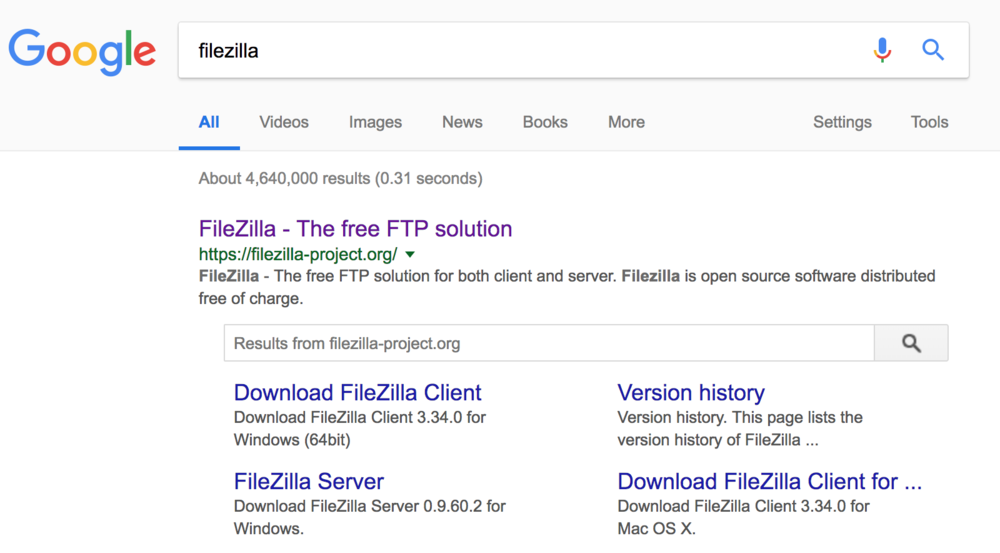 download filezilla ftp client for windows 10