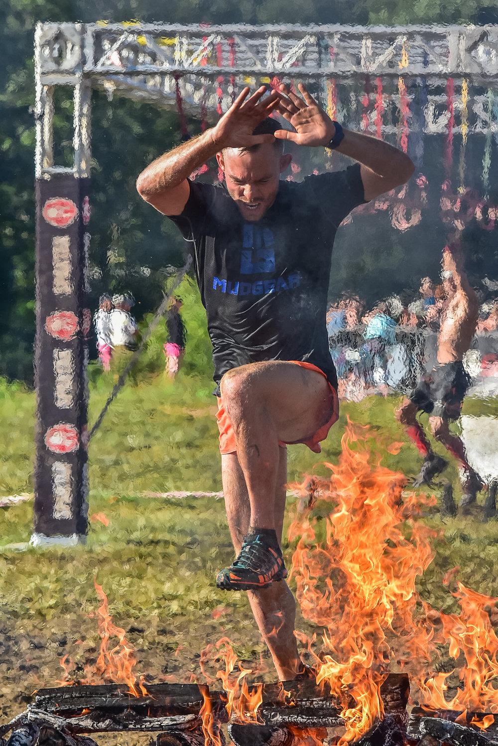 Spartan Asheville Fire Jump 2017 2