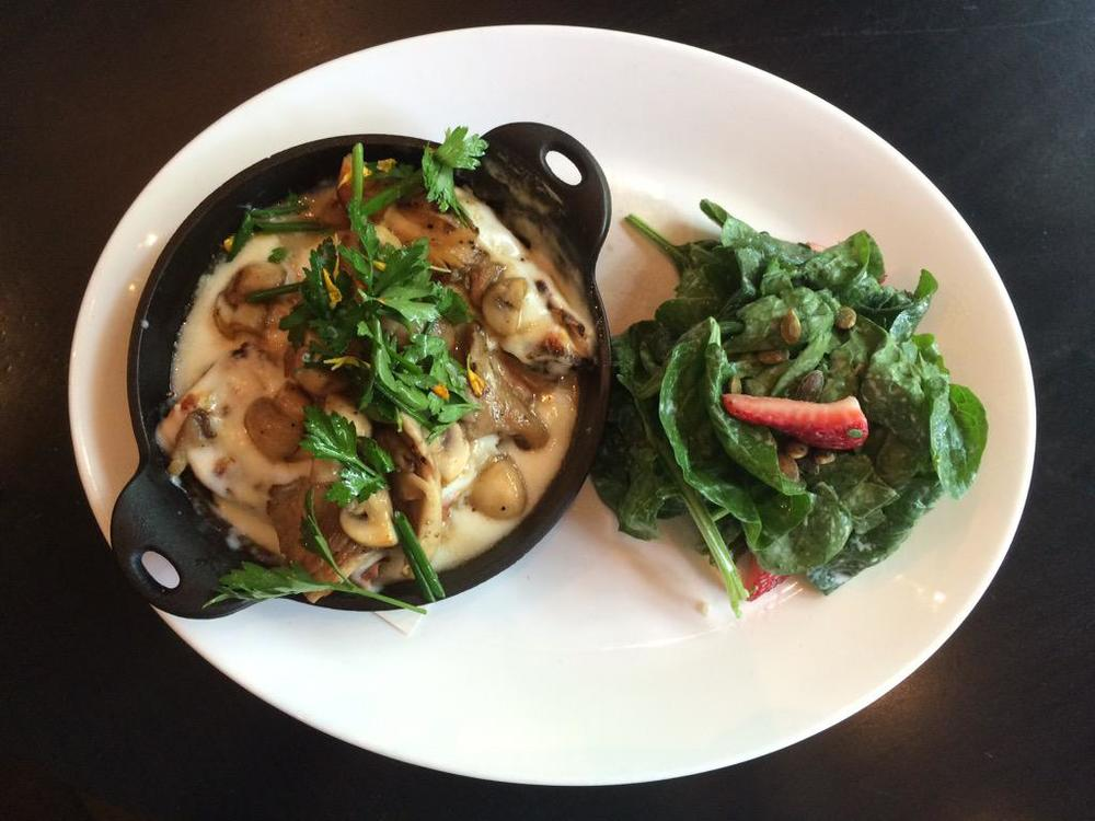 Lunch on the Fly - cannelloni and spinach salad.jpg
