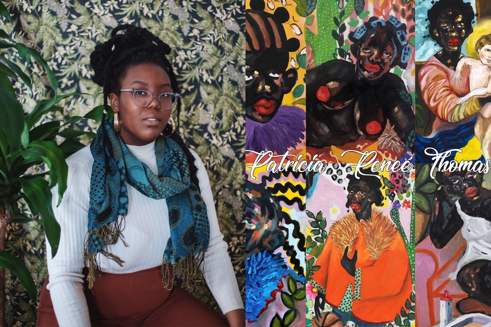Patricia Renee Thomas - Patricia Renee' Thomas c.1995, is a Philadelphia based painter, drawer, and art educator. The artist uses historical references of blackness, its influence in advertising, its fetishization, and exploitation from experience and research to further investigate the meaning of beauty in Westernized figure painting. She has been shown internationally and is the winner of several local scholarships and awards and is currently a 40th Street Artist in Residence.Patricia Renee' Thomas c.1995, is a Philadelphia based painter, drawer, and art educator. The artist uses historical references of blackness, its influence in advertising, its fetishization, and exploitation from experience and research to further investigate the meaning of beauty in Westernized figure painting. She has been shown internationally and is the winner of several local scholarships and awards and is currently a 40th Street Artist in Residence.
