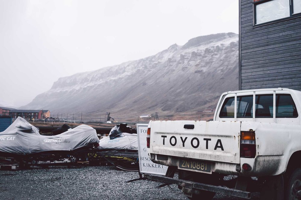 The cars on Svalbard use up every last bit of life left in them before switching to the next worn-down vehicle.