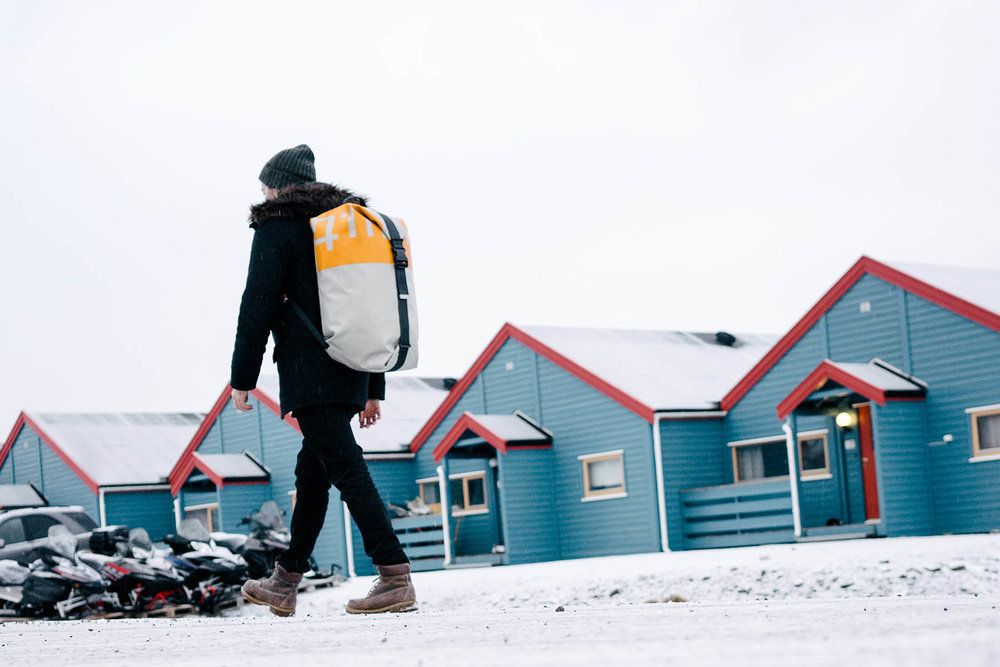 Freitag Backpacks - Switzerland  Freitag is a Swiss company that bases all of its products from recycled durable materials, which I was fortunate to sponsor during a photography project in Svalbard, Norway.