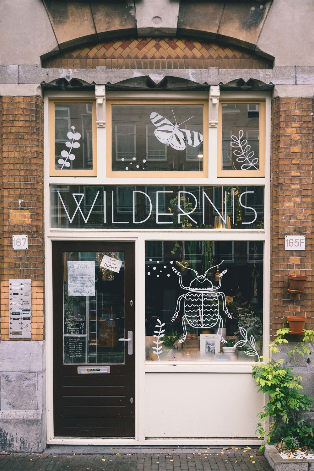 Wildernis - Amsterdam Wildernis is a plant shop and cafe in one, equipped with all the tools and plants necessary to transform any space into a luscious green one.