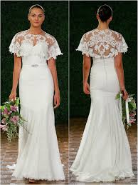A cape dress is great for a Fall/Winter bride! Watters 2015 Bridal