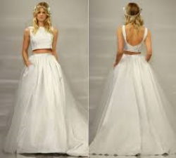 Crop Top Bridal| Theia Bridal