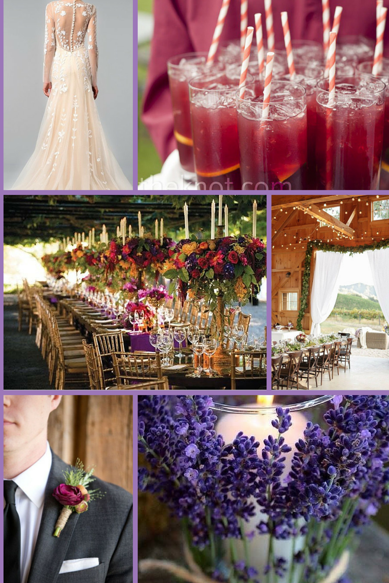 It May Be Because One Of The Colors Is Sangria But This Color Palette Just Makes Sense At A Vineyard Or Inspired Wedding