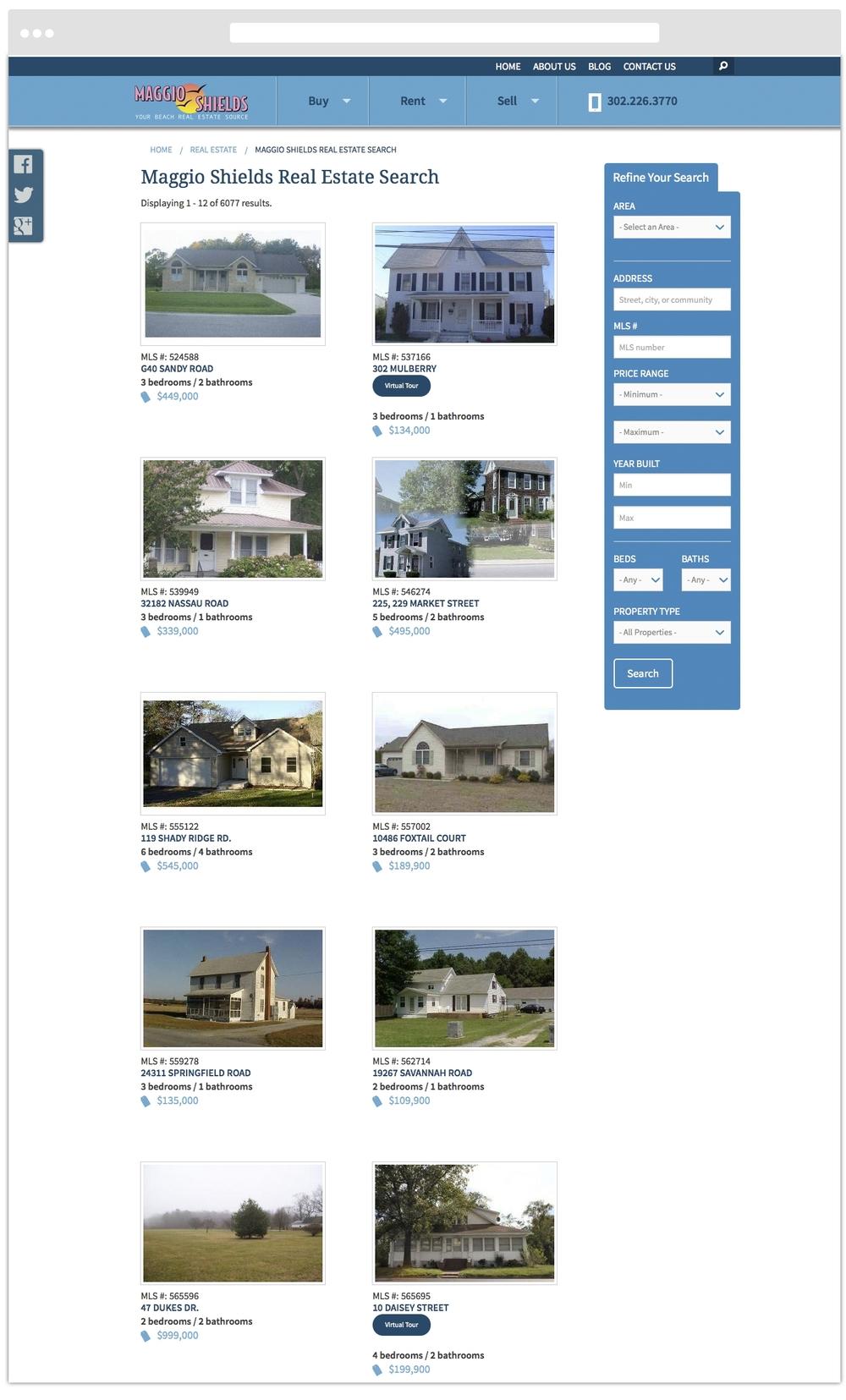 Listings Landing Page