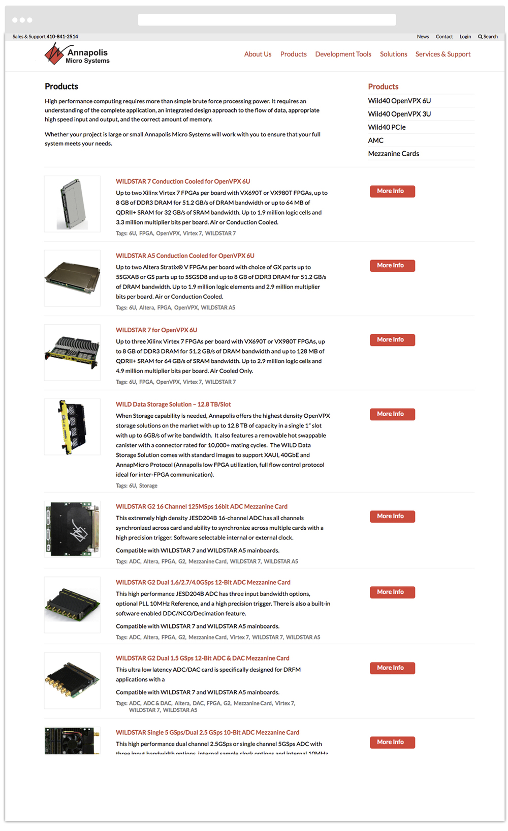 Product Catalog Landing Page