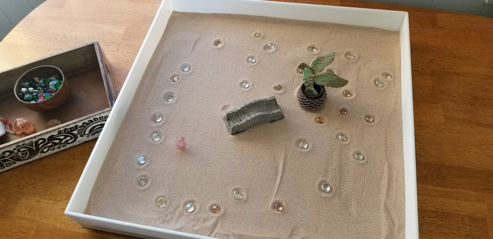 A sandtray scene.