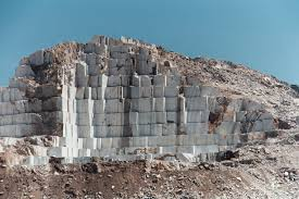 Marble Quarry in Greece.  Notable for the white or blue-grey marble quarried there.