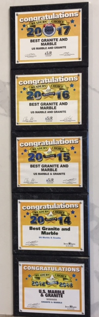 6-Peat!!!  Winner of the Reader's Choice award for Best Marble and Granite 2012, 2013, 2014, 2015, 2016, 2017!