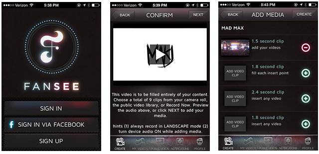 fansee-app-screenshots