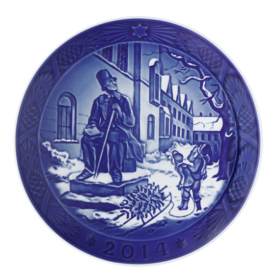 Royal Copenhagen | 2014 Christmas Plate 107th Edition 1901114 - Porcelain | $105.00 Made in Denmark