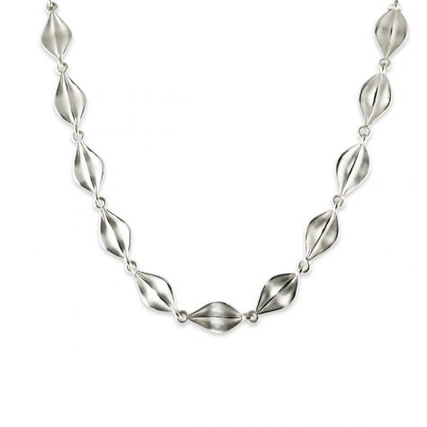 "Sterling Leaf 17"" Necklace  Sku: 770-02699 Retail 320.00"