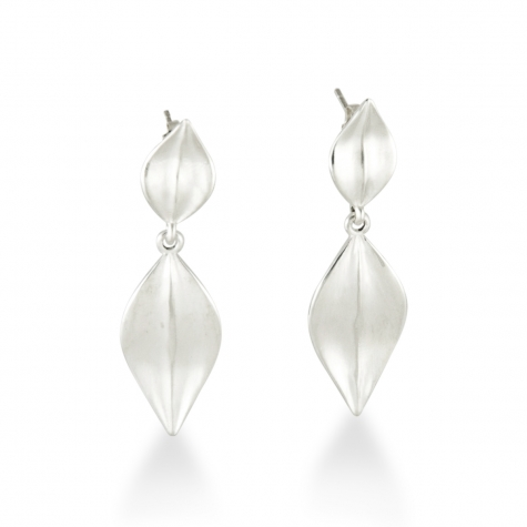 Sterling Leaf Drop Earrings  Sku: 770-02698  Retail 135.00