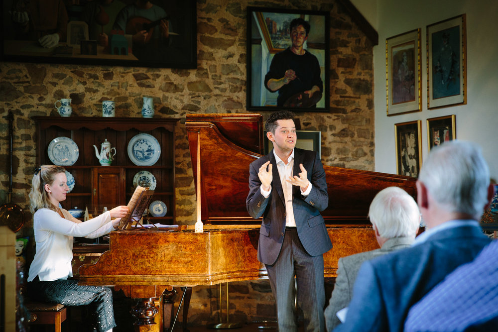 Recital at the invitation of Sarah Walker CBE (October, 2016 - Music at Cheffings) James Way, tenor & Natalie Burch, piano