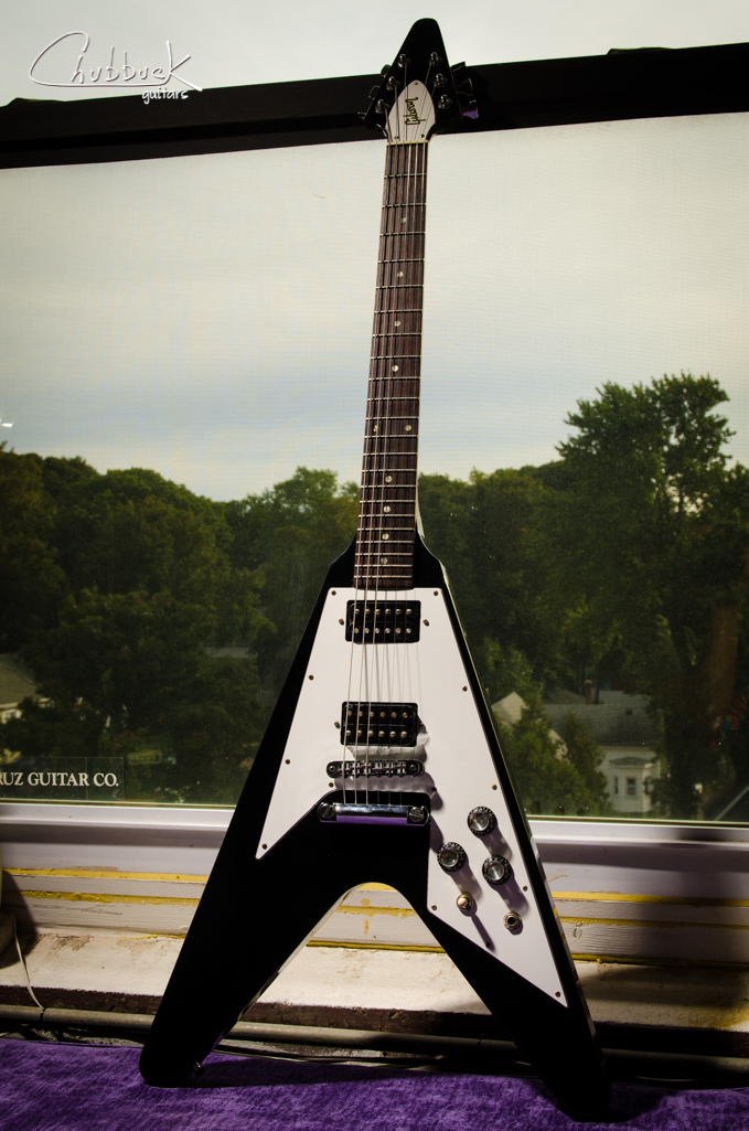 2003 Gibson Flying V :: new Hipshot tuners* and setup. *Check the previous post