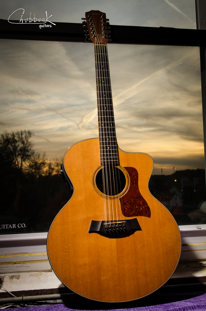 2002 Taylor 555-CE 12 String :: quick setup, but in dire need of a neck reset.