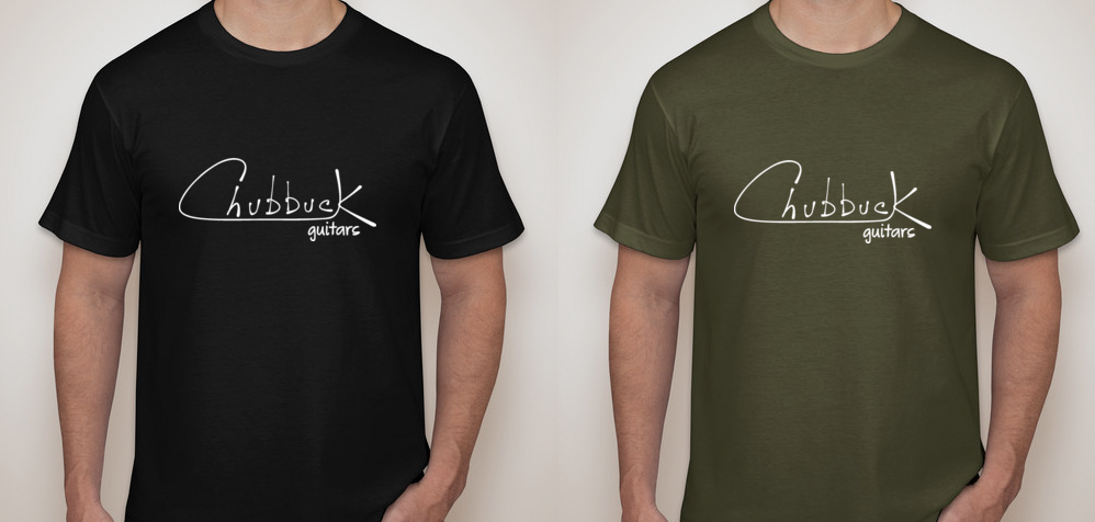 First run of Chubbuck Guitars shirts!