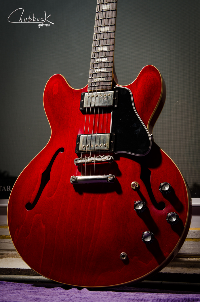 2013 Gibson ES-335TDC '63 reissue [7.8 lbs] :: set up for 12's with a wound G.