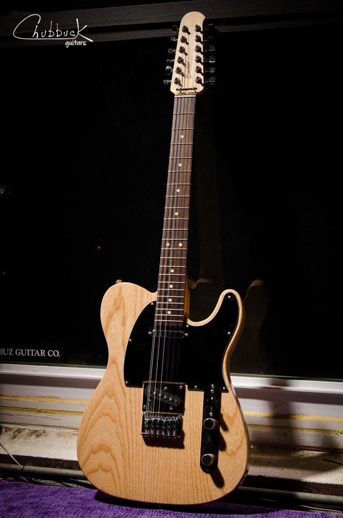 """Escher"" Tele 12 String partscaster :: setup  This is a customer's project guitar equipped with Callaham hardware and Onamac Windery pickups."