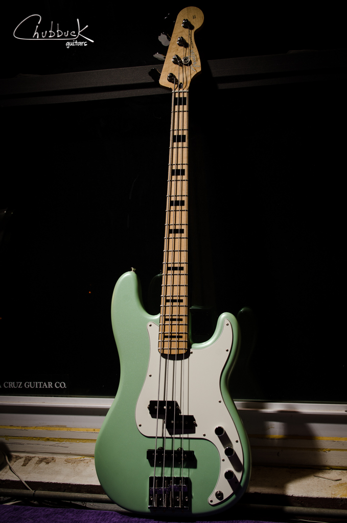 2012-13 Fender Precision Bass Special Deluxe Series :: setup  Joe Cesarz of Boston funk band    Big Ol' Dirty Bucket.