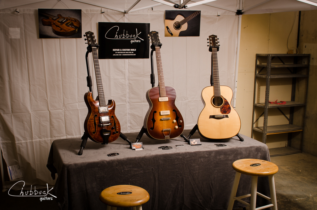 Here is Chubbuck Guitars booth mock-up for Open DTL. Live music and other artists are gathering in downtown Lynn, MA this Saturday 6/22 11am-4pm.  Stop in and say hey!  More info on the event:    http://dtlna.org