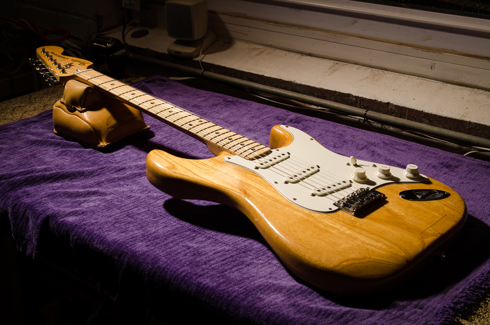 The Strat is now strung up and back to it's original pickup configuration.